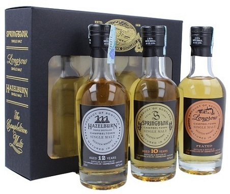 Campbeltown Whisky Gift Pack 3x20 cl.
